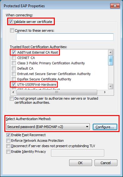 Validating identity wireless certificate validation